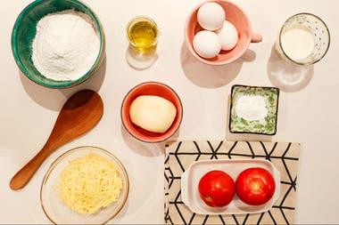 Budín salado de tomates y mozzarella, fácil e ideal para picadas